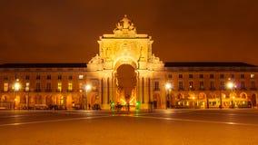 Lisboa, PORTUGAL - 2 de março de 2016: : O Rua Augusta Arch no Fotografia de Stock