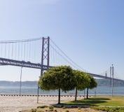 Lisboa, Portugal - 15 de mayo: 25to del puente de abril en Lisboa el 15 de mayo de 2014 25to del puente de abril Foto de archivo libre de regalías