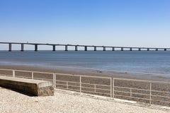 LISBOA, PORTUGAL - el puente de Vasco da Gama Foto de archivo libre de regalías