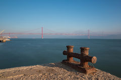 Lisboa, Portugal, Europe - Pier view to tagus river Royalty Free Stock Images