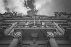 Lisboa / Portugal 8/22/2015 - Facade of the convent of Mafra.  royalty free stock photo