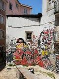 Lisboa, Portugal. Fado street art stock image