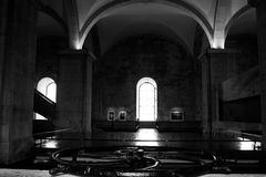 Lisboa, Portugal: gua interior del  del d'à de Mãe (la madre del agua) Fotos de archivo