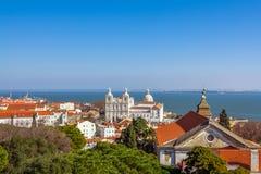 Lisboa, Portugal Sao Vicente de Fora Monastery, abóbada de Panteao Nacional imagens de stock royalty free