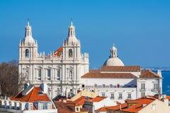 Lisboa, Portugal Sao Vicente de Fora Monastery, ab?bada de Panteao Nacional foto de stock royalty free