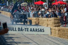3 Red Bull Soapbox race grand prize in Lisbon Royalty Free Stock Image