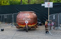 3 Red Bull Soapbox race grand prize in Lisbon Royalty Free Stock Photo