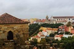 Lisboa, Portugal. View of the cityscape. Bridge, Castle Stock Photo