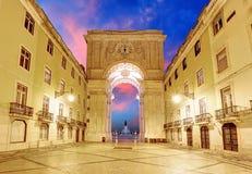 Lisboa - Praca faz Comercio, Portugal imagens de stock
