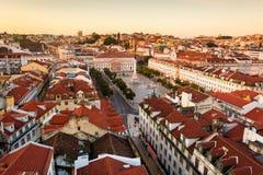 Lisboa, quadrado de Rossio Fotos de Stock Royalty Free