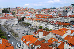 Lisboa Rossio kwadrat Obraz Royalty Free
