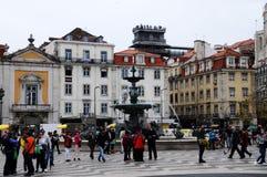 Lisboa Rossio kwadrat Zdjęcia Stock