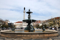 Lisboa Rossio kwadrat Obrazy Stock