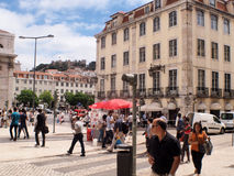 LISBOA ROSSIO SQUARE Royalty Free Stock Image
