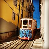 Lisboa's tram Royalty Free Stock Photography