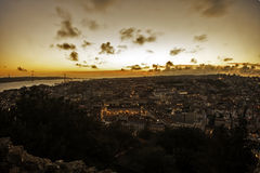Lisboa in sunset Royalty Free Stock Photography