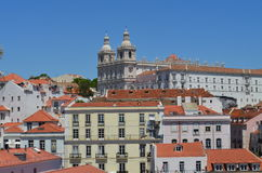 Lisboa. View of the Lisboa on the background of blue sky Stock Image