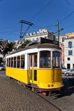 Lisbon�s yellow tram Royalty Free Stock Photos