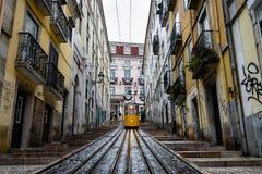 Elevador da bica in Lisbon Stock Photos