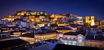 Lisbon śródmieście Obrazy Royalty Free