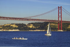 Lisbon. Bridge in the river Tagus Stock Photo