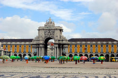 Lisbon. The city center and entrance to Lisbon, Portugal Stock Photo
