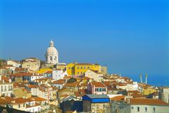 Lisbon. City panorama by blue sky Royalty Free Stock Image