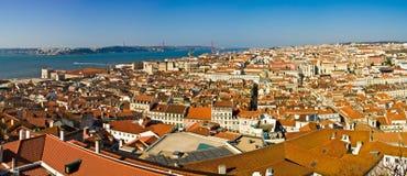 Lisbon. Panoramic view of Lisbon, Portugal royalty free stock photos
