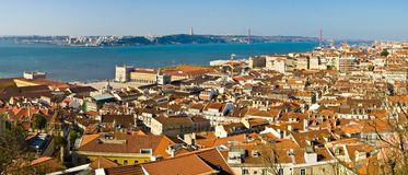 Lisbon. View of Lisbon from the Castle, Portugal royalty free stock photo