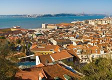 Lisbon. View of Lisbon from the Castle, Portugal stock image