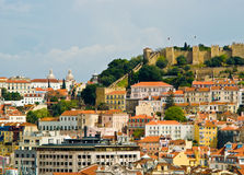 Lisbon. Castle overlooking the city, , Portugal stock image