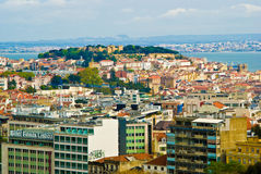 Lisbon. Castle overlooking the city, , Portugal royalty free stock images