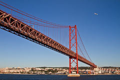 Lisbon, 25th of April bridge Stock Photos