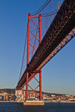 Lisbon, 25th of April bridge Royalty Free Stock Image