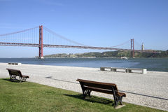 Lisbon. 25 de Abril bridge in Lisbon Royalty Free Stock Images