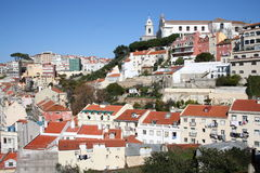 Lisbon. Old Lisbon seen from the Castle hill Royalty Free Stock Photography