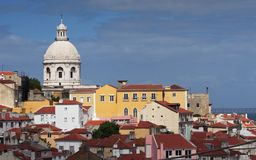 Lisbon. Architecture in Portugal - Panorama of Lisbon Stock Photos