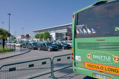 Lisbon Airport - Terminal Shuttle bus Stock Image