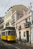 Lisbon, Alfama District - Yellow Tramway Stock Photography