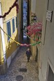 LISBON, ALFAMA, PORTUGALIA, uczta St Anthony obraz royalty free