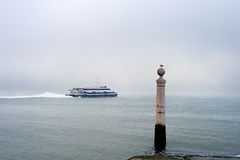 Lisbon Almada ferry boat Stock Photography