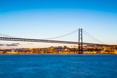 Lisbon April Bridge Portugal Stock Photo
