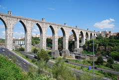 Lisbon Aqueduct Royalty Free Stock Photos