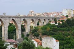 Lisbon Aqueduct Royalty Free Stock Photography