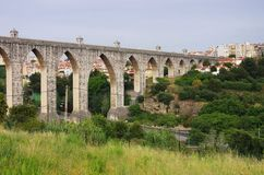 Lisbon Aqueduct Stock Image