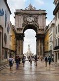 Lisbon arch of Triumph Stock Photo