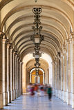 Lisbon arched walkway Royalty Free Stock Image