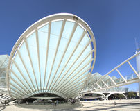 Lisbon architecture. Lisbon`s commercial center built in the old expo area royalty free stock images