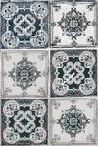 Lisbon azulejos. Traditional Lisbon azulejos from facade of old building Stock Photos