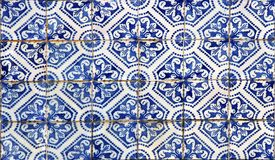 Lisbon azulejos. Detail of the dtraditional tiles (azulejos) from facade of old hosue in Lisbon, Portugal Stock Photos